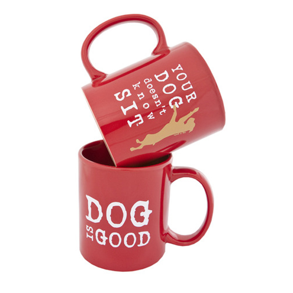 Dog is Good Doesn't Know Sit Coffee Mug - Red