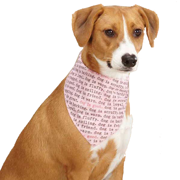 Dog is Good Dogism Dog Bandana - Pink