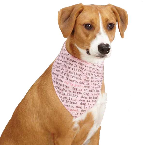 Dog is Good Dogism Dog Bandana - Pink
