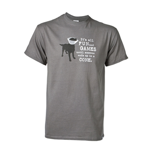 Dog is Good Fun and Games Human T-Shirt - Gray