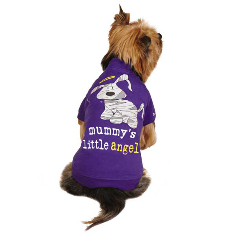 Dog is Good Mummy's Little Angel Dog T-Shirt - Purple