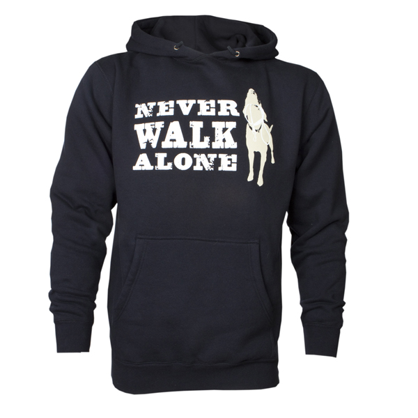 Dog is Good Never Walk Alone Human Hoodie - Navy
