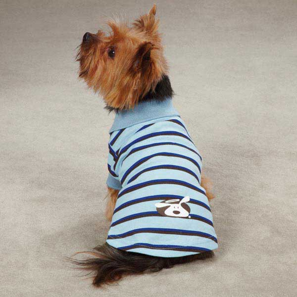 Dog is Good Striped Polo Dog Shirt - Angel Falls