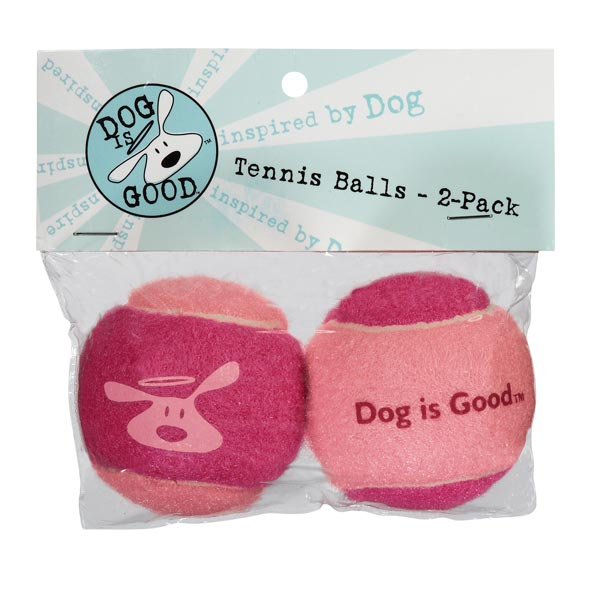 Dog is Good Tennis Balls 2 Pack - Rose Shadow/Raspberry Sorbet