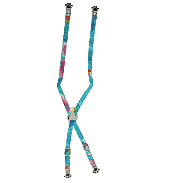 Dog Suspenders - Blue Hawaiian