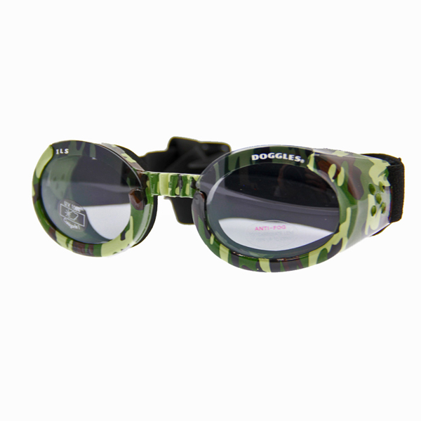Doggles - Green Camo Frame with Light Smoke Lens