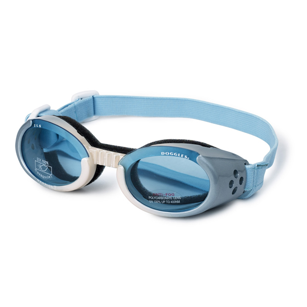 Doggles - Ice Blue/Pearl Frame with Light Blue Lens