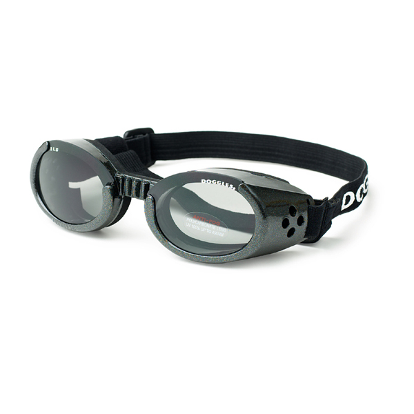 Doggles - Metallic Black Frame with Smoke Lens