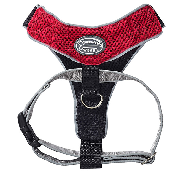Doggles Red & Black V Mesh Harness