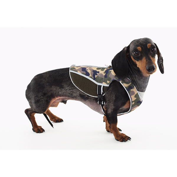 Doggles Reflective Mesh Vest Harness - Camo/Gray