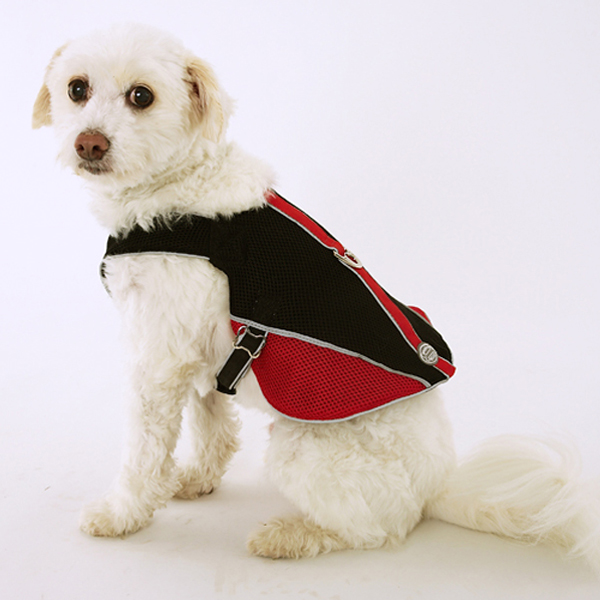 Doggles Reflective Mesh Vest Harness - Red/Black