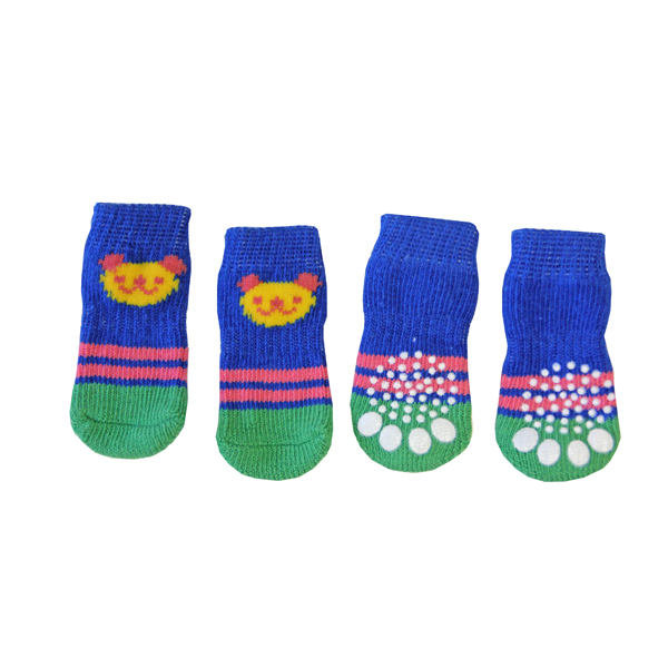 Doggy Socks - Blue & Green Panda