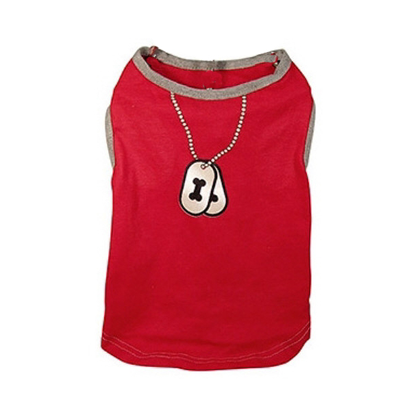 Dogtag Dog Tank Top - Red