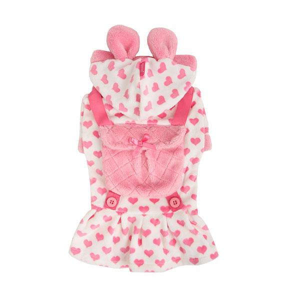 Dreamy Hooded Dog Dress by Pinkaholic - Ivory