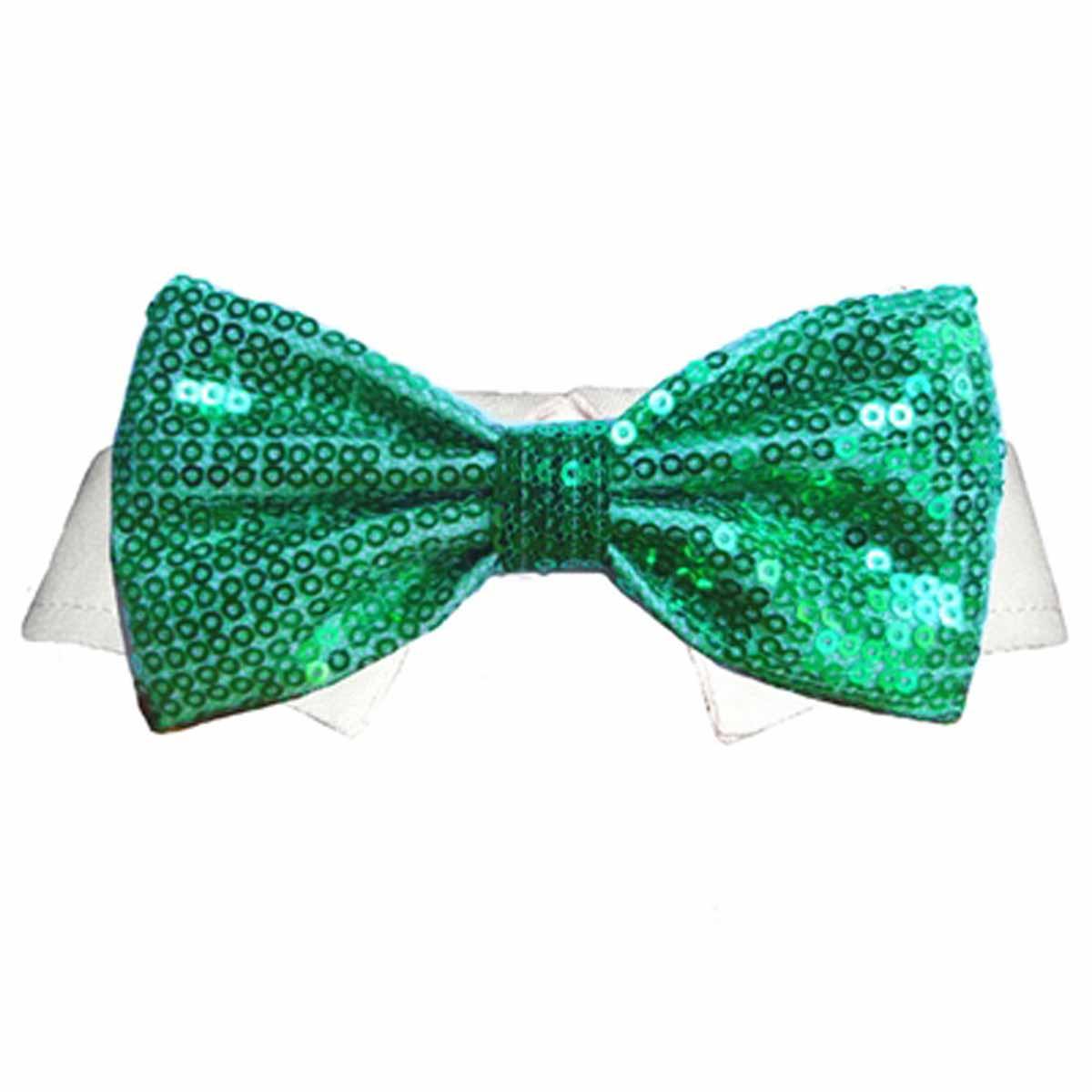 Dublin Dog Shirt Collar And Bow Tie Green Baxterboo