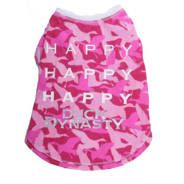 Duck Dynasty® - Happy, Happy, Happy Dog T-Shirt - Pink