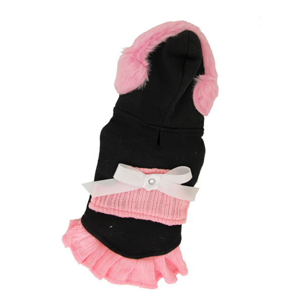 Earmuff Hoodie Dress by Hip Doggie