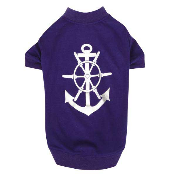 All Paws on Deck Dog T-Shirt - Anchor