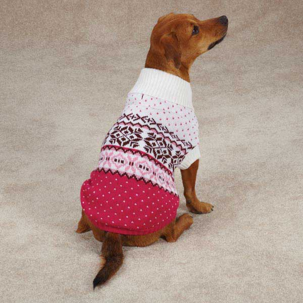 Avalanche Dog Sweater - Pink