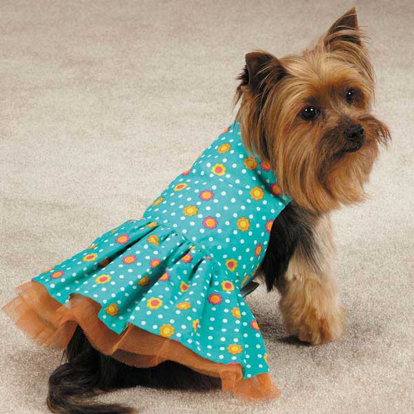 Blooming Brights Dot Woven Dog Dress