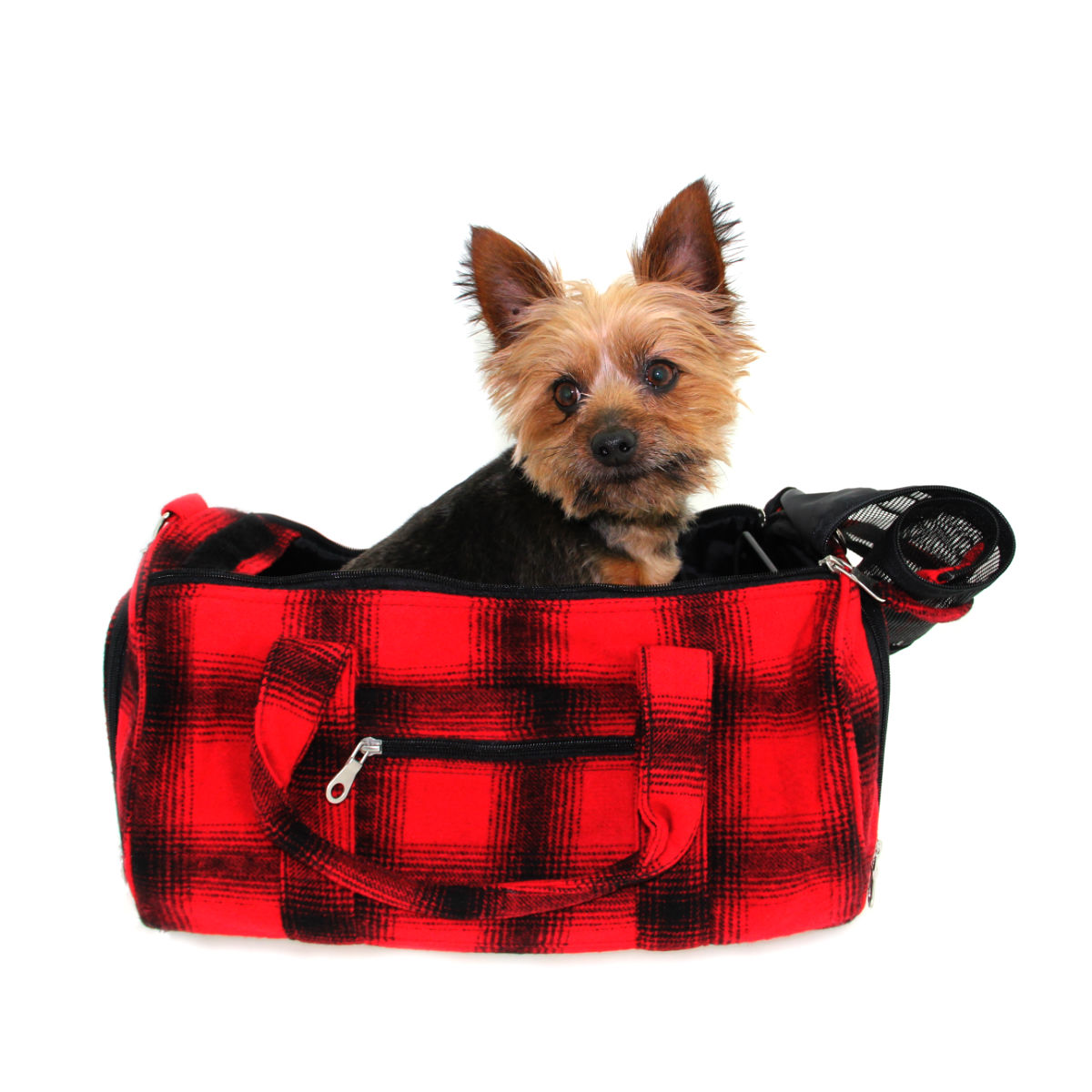 East Side Collection Buffalo Plaid Pet Carrier
