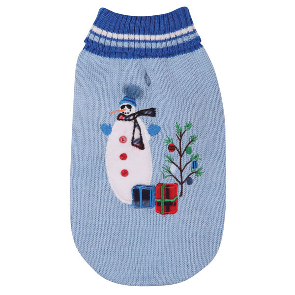 Deck the Halls Dog Sweater - Blue
