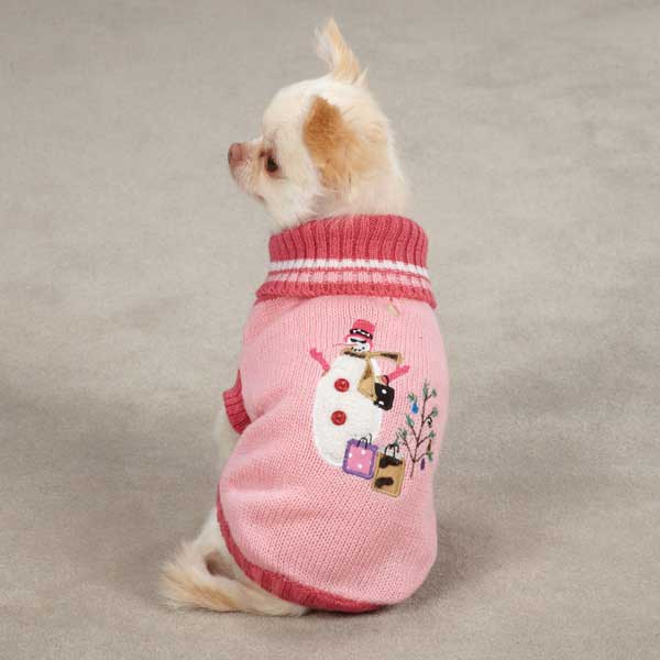 Deck the Halls Dog Sweater - Pink