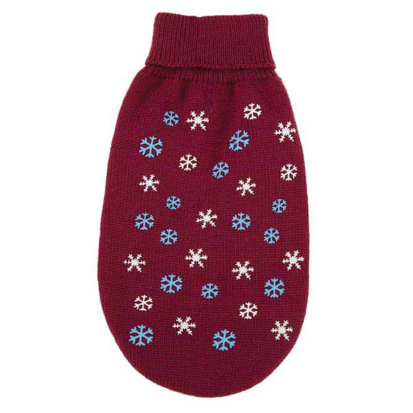 Flurry Dog Sweater - Deep Raspberry