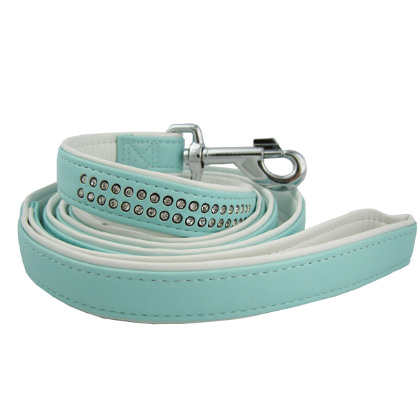 East Side Collection Gemstone Leash - Blue