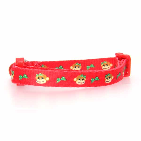 Holiday Monkey Business Cat Collar - Tiff