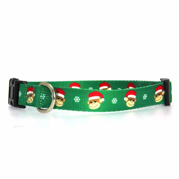 Holiday Monkey Business Dog Collar - Ty