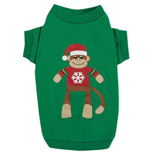 Holiday Monkey Business Dog T-Shirt - Ty