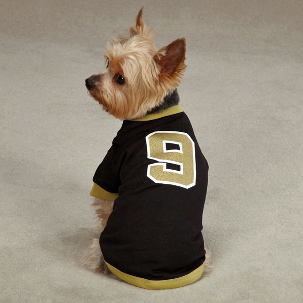 Leader of the Pack Dog Football Jersey - Black and Gold