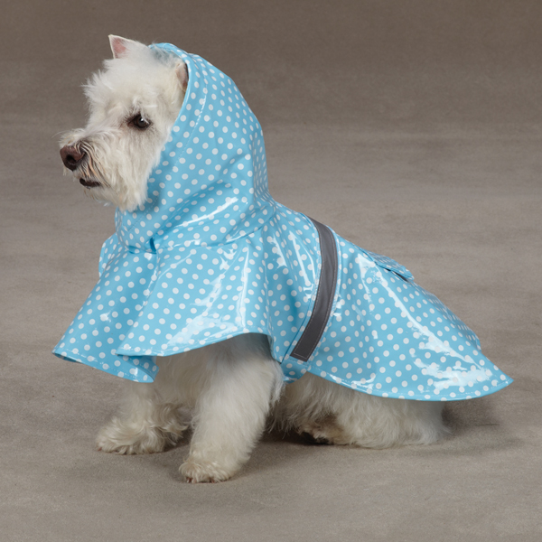 Polka Dot Rain Jacket - Blue