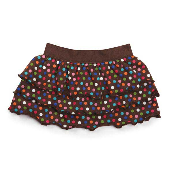 East Side Collection Polka Dot Ruffle Dog Skirt