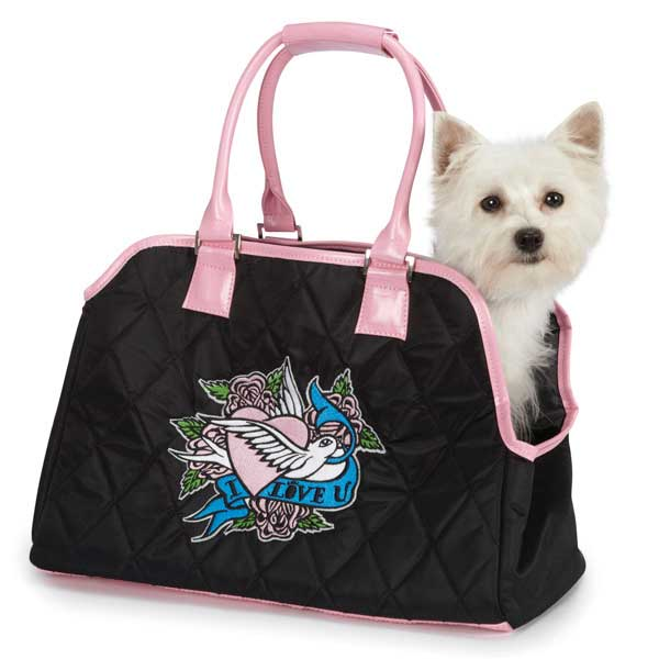 East Side Collection Quilted I Love U Pet Carrier