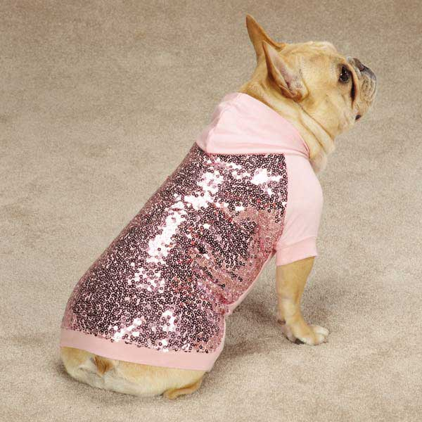 Sequin Dog Pullover - Pink