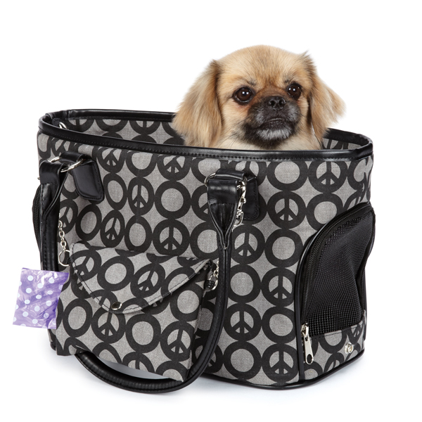 East Side Collection Soho Peace Sign Dog Carrier