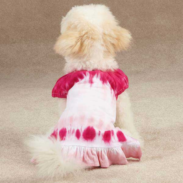 Tie Dye Cover-up Dog Dress - Raspberry