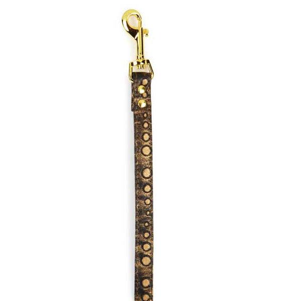 East Side Collection West End Dog Leash - Gold Stud