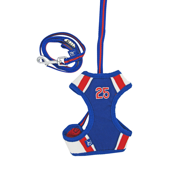 EasyGo Baseball Dog Harness by Dogo - Red/Blue