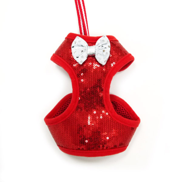 EasyGo Sequins Dog Harness by Dogo - Red