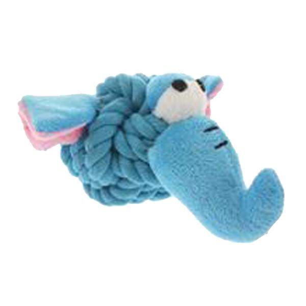 Elephant Rope Head Ball Dog Toy