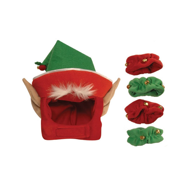 Elf Holiday Dog Costume with Leg Cuffs