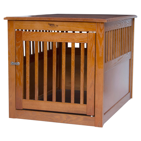 End Table Dog Crate - Artisan Bronze