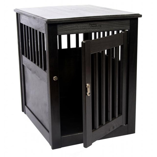 End Table Dog Crate - Black | BaxterBoo