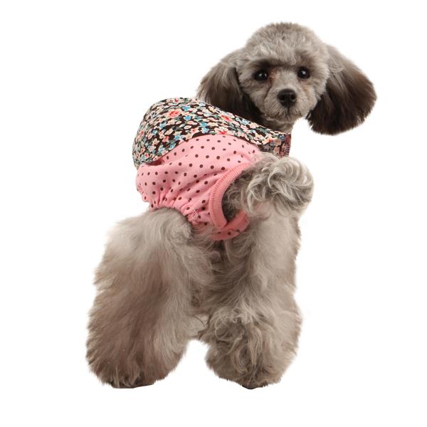 Ensemble Dog Sanitary Pants by Puppia - Pink