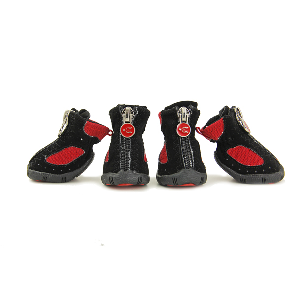 Epiks Dog Boots by Gooby - Black/Red