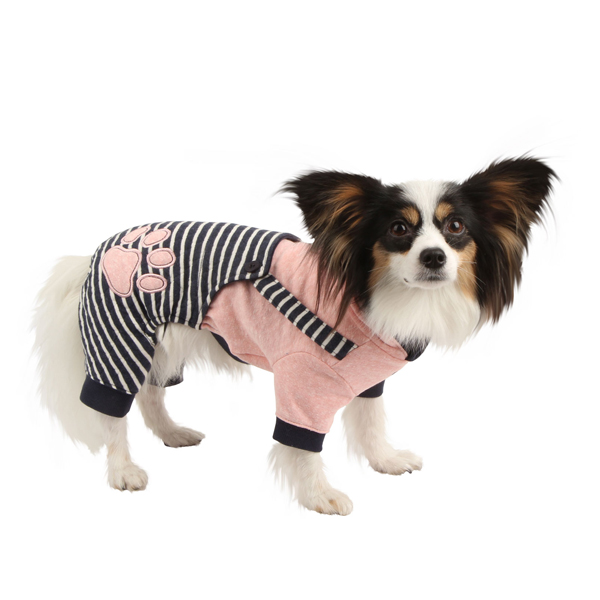 Euphoria Dog Hooded Jumpsuit by Pinkaholic - Navy