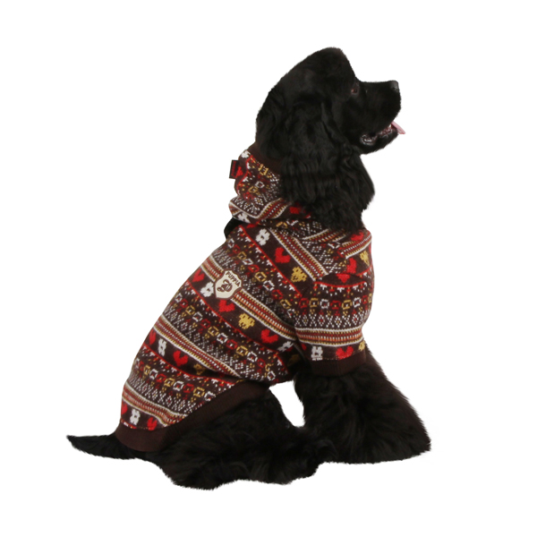 Express Dog Hoodie by Puppia - Brown
